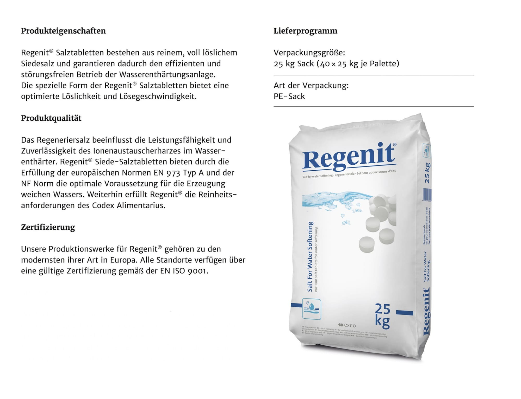 Regenit_Datenblatt